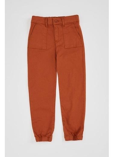 DeFacto Kız Çocuk Cargo Fit Pantolon Kahve